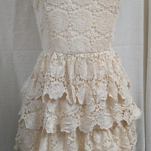 Vestido Encaje Beige Talla S [1]