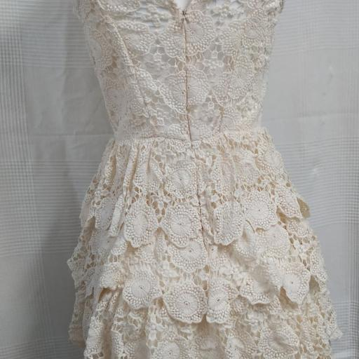 Vestido Encaje Beige Talla S [2]