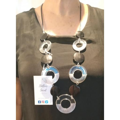 Collar Aros Negro/Transparente