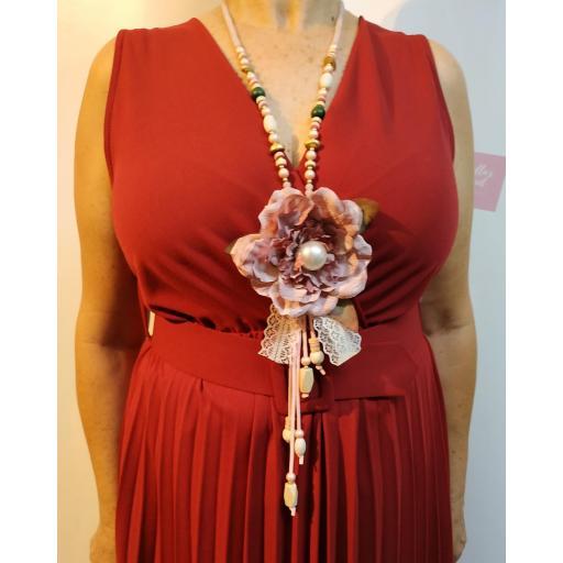 Collar Abalorios Flor [1]