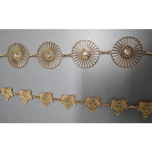 Cinturón Metálico Hojas y Circulos [1]