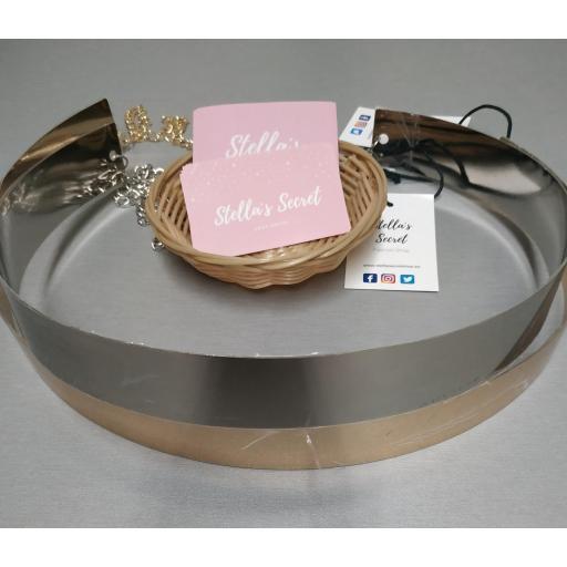 Cinturón Metálico de 4 cm/2 cm Dorado y Plateado