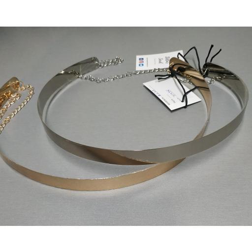 Cinturón Metálico 2 cm Dorado [1]