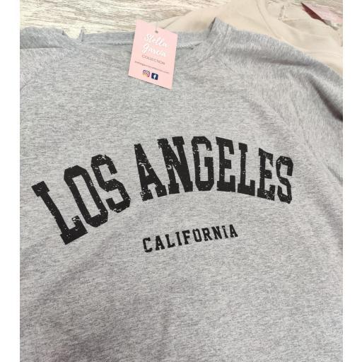 Sudadera Los Angeles en Gris  [1]