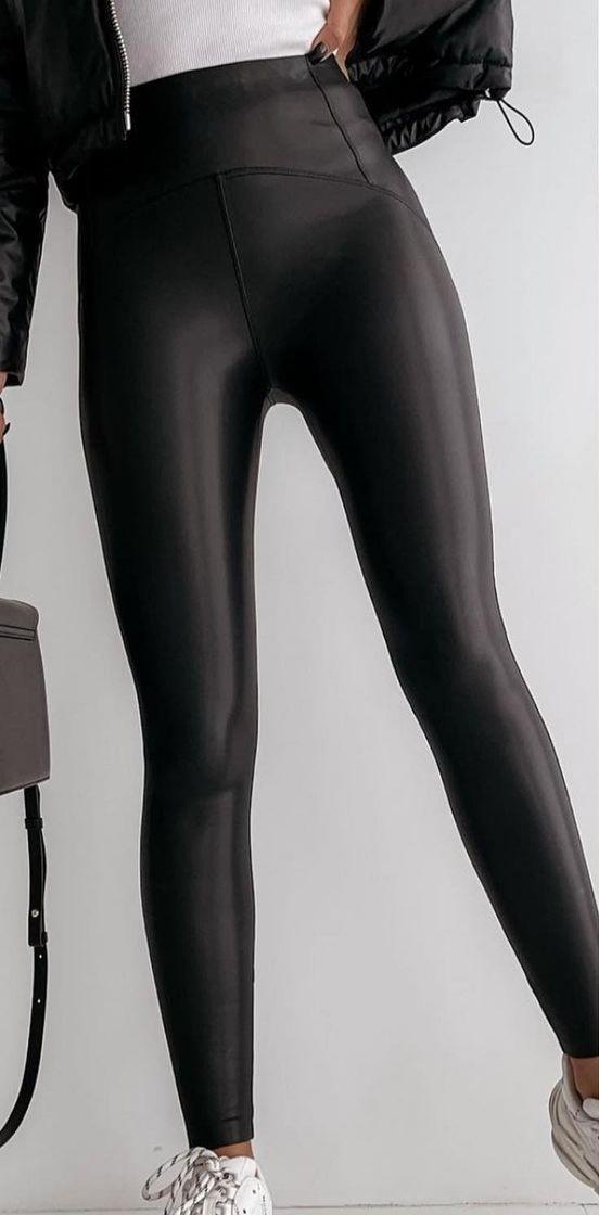 Leggings Polipiel Negro de S a XL