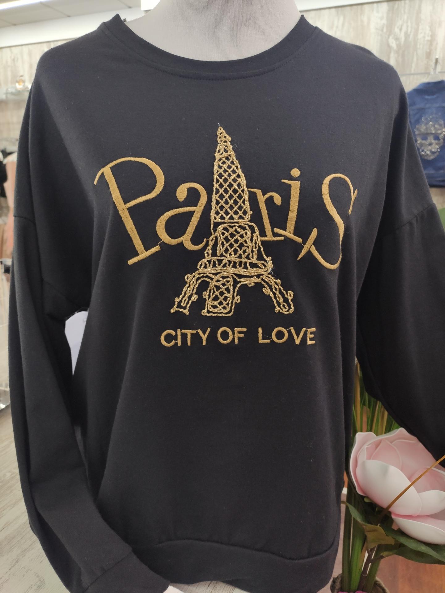 Sudadera Paris en Blanco y Negro