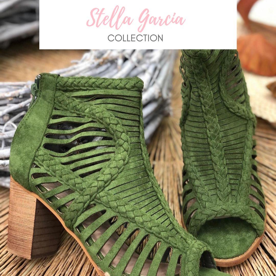 Sandalia Antelina Verde Nº 36 y 39