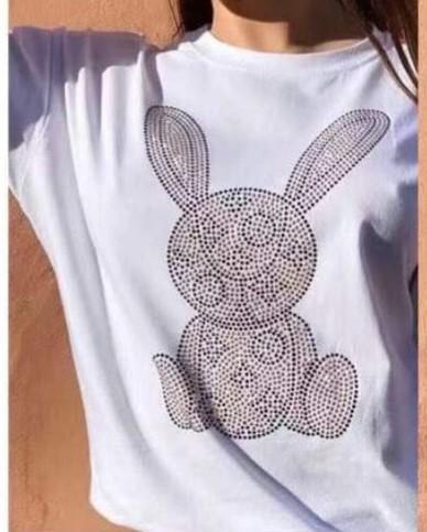 Camiseta Rabbit en Blanco