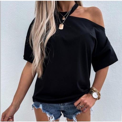Camiseta Cala en Rosa y Beige [2]