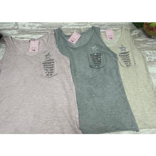 Camiseta Estrella Glitter en Beige [1]