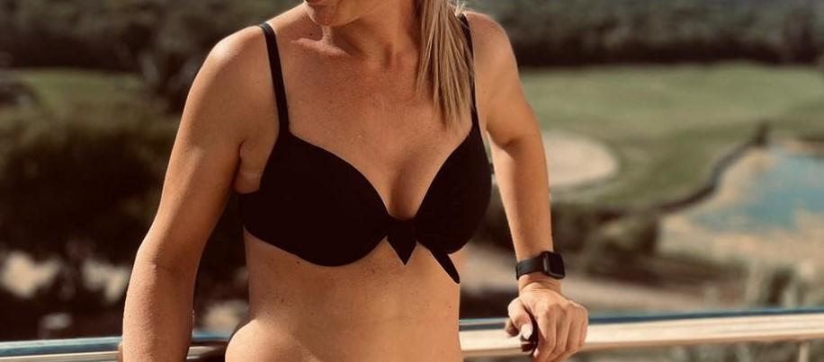 Top Bikini Negro Lazo Tallas M, L y XL