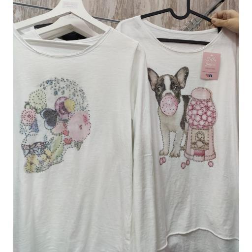 Camiseta Algodón Estampada Catrina [1]