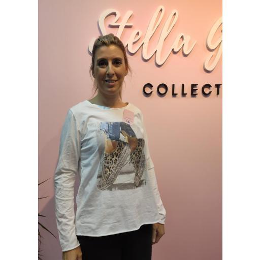 Camiseta Algodón Estampada Catrina