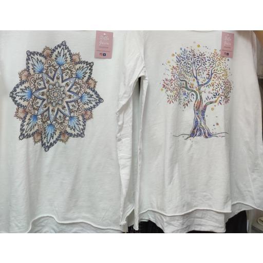 Camiseta Algodón Estampada Catrina [2]