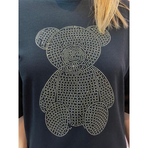 Camiseta Osito Glitter Negra [1]