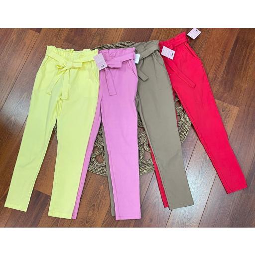 Pantalón Lazo en Amarillo, Rosa, Beige, Rojo y Lila  [1]