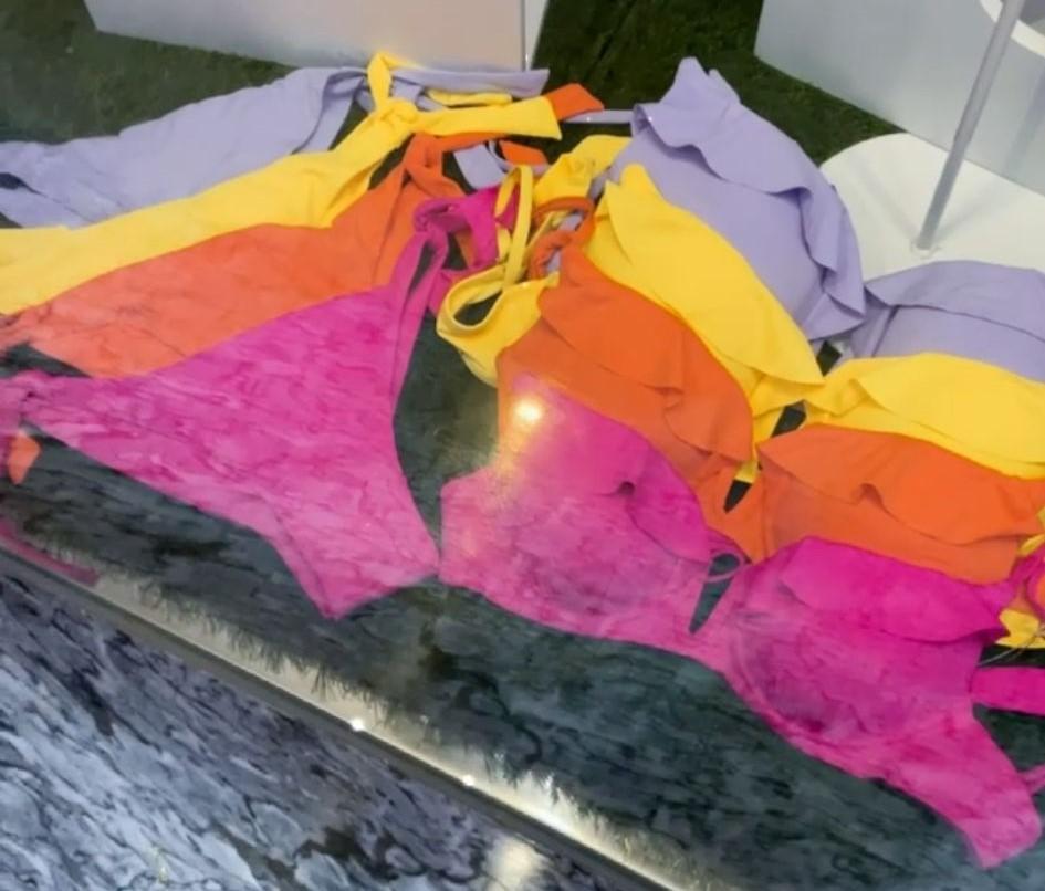 Bikini Volantes en Fucsia, Naranja, Amarillo y Lila