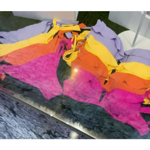 Bikini Volantes en Fucsia, Naranja, Amarillo y Lila [0]