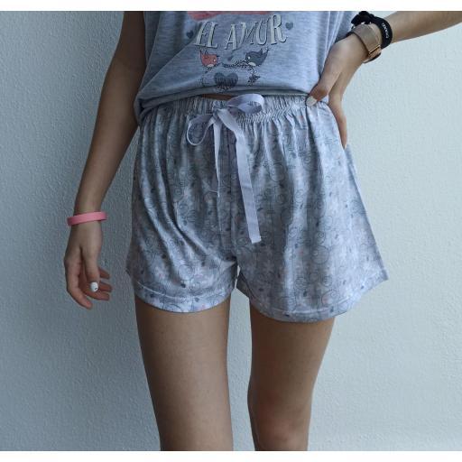 Pijama Wonderful en Celeste Talla M  [1]