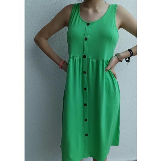Vestido Botones Curvy en Verde, Mostaza y Rojo [0]