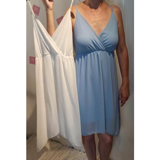 Vestido Alicia en Blanco y Celeste [1]