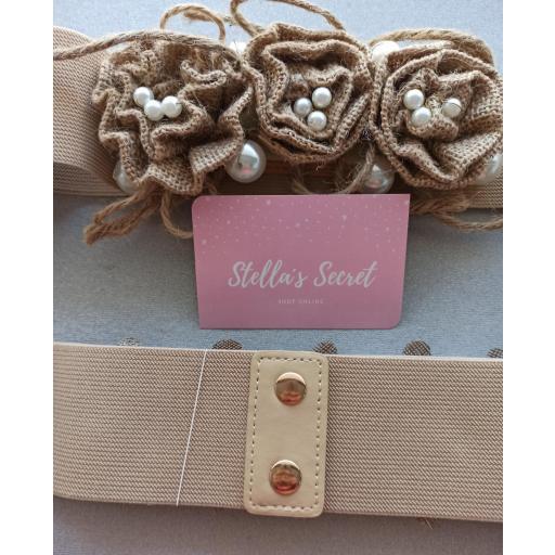 Cinturón Elástico con Perlas [1]
