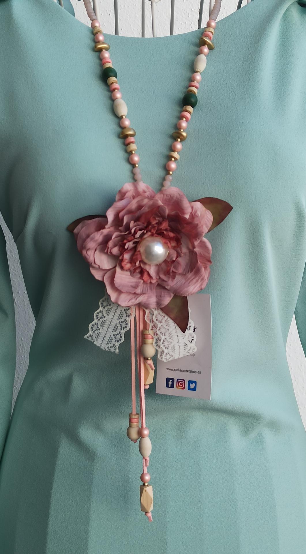 Collar Abalorios Flor