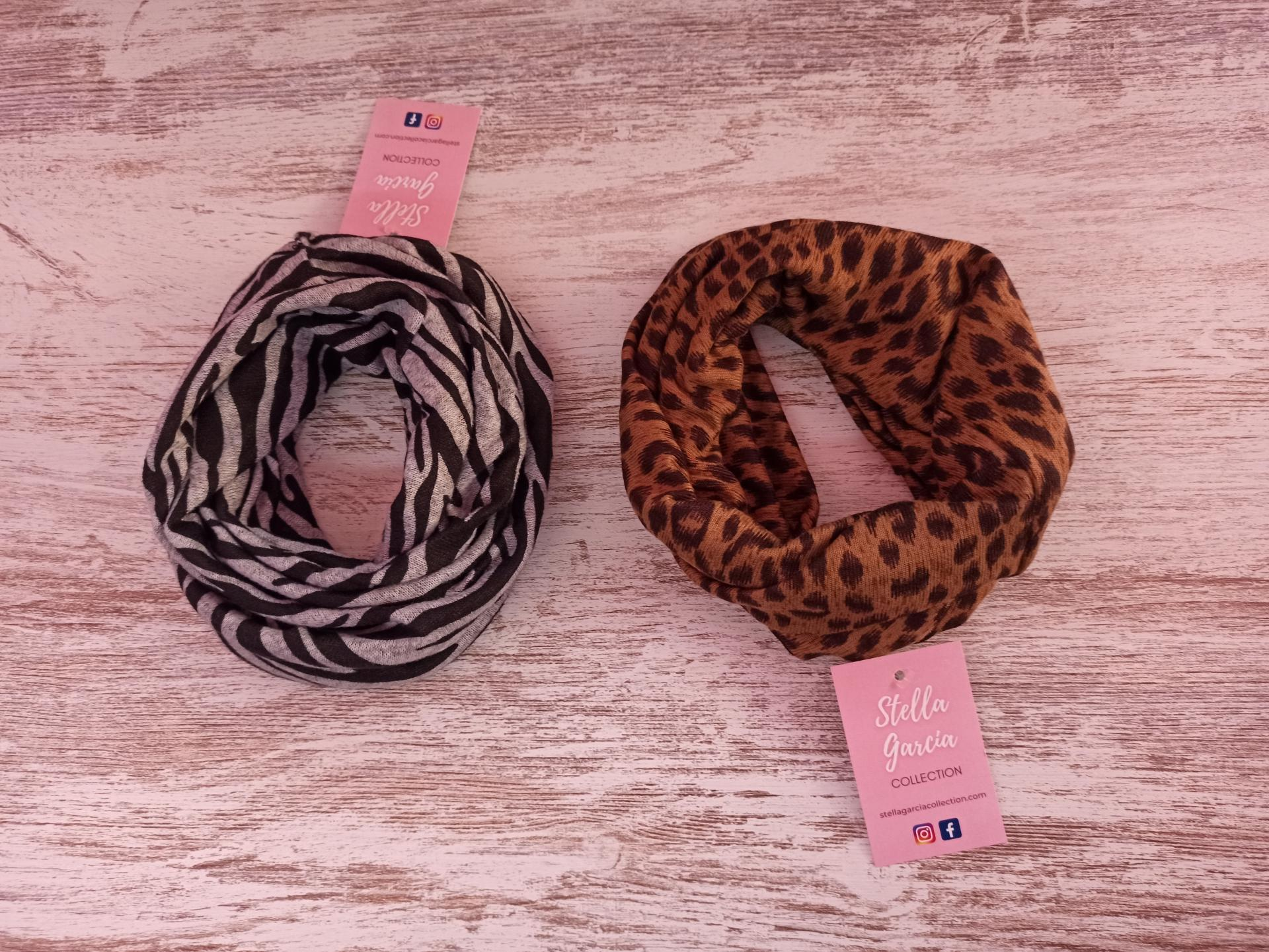 Cuello/ Bufanda en Animal Print