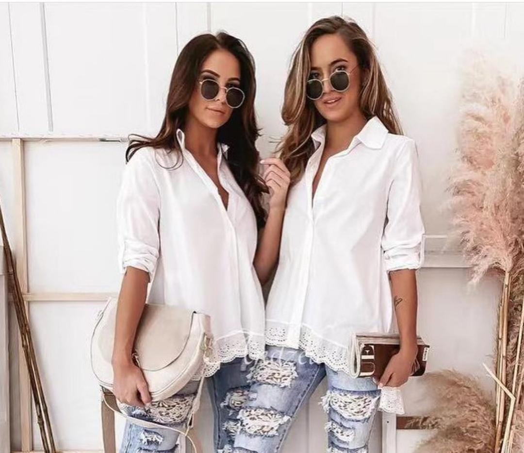 Camisa Puntilla Blanca