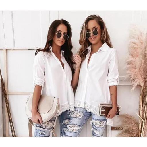 Camisa Puntilla Blanca [0]