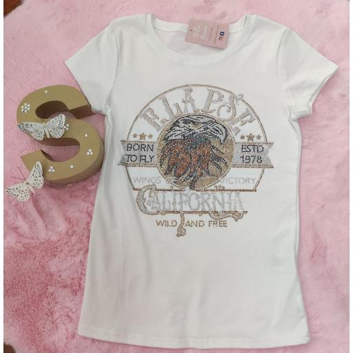 Camiseta Glitter Aguila en S/M y M/L