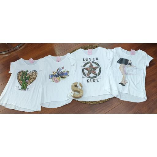 Camiseta Basic en Estampado Perfection y Bolso