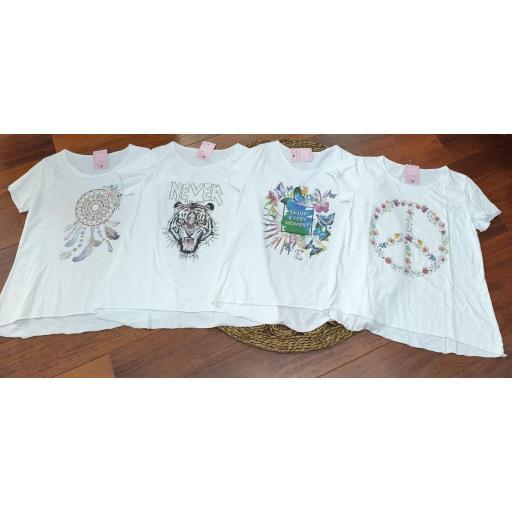 Camiseta Basic con Estampados Variados II