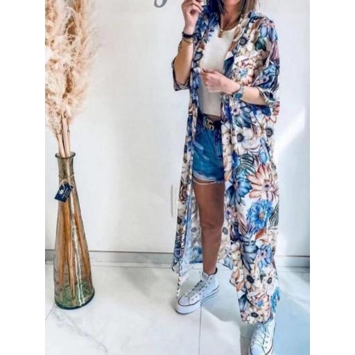 Kimono Flores en Beige [0]