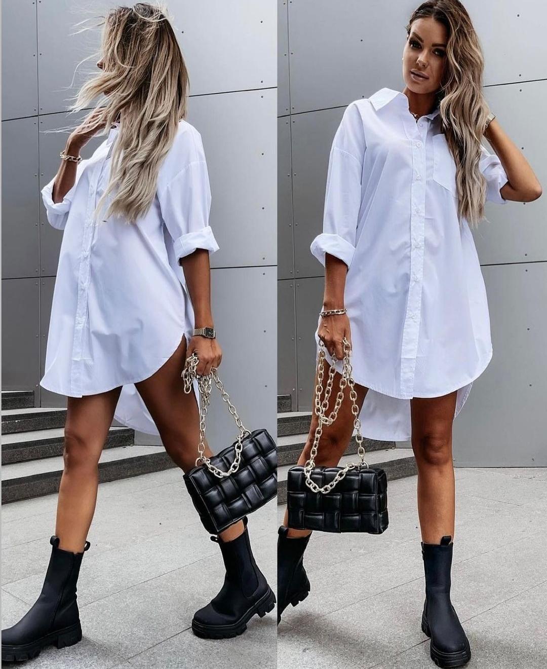 Maxi Camisa en Blanco y Negro