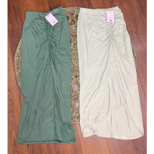 Falda Cleopatra en Verde y Beige [1]