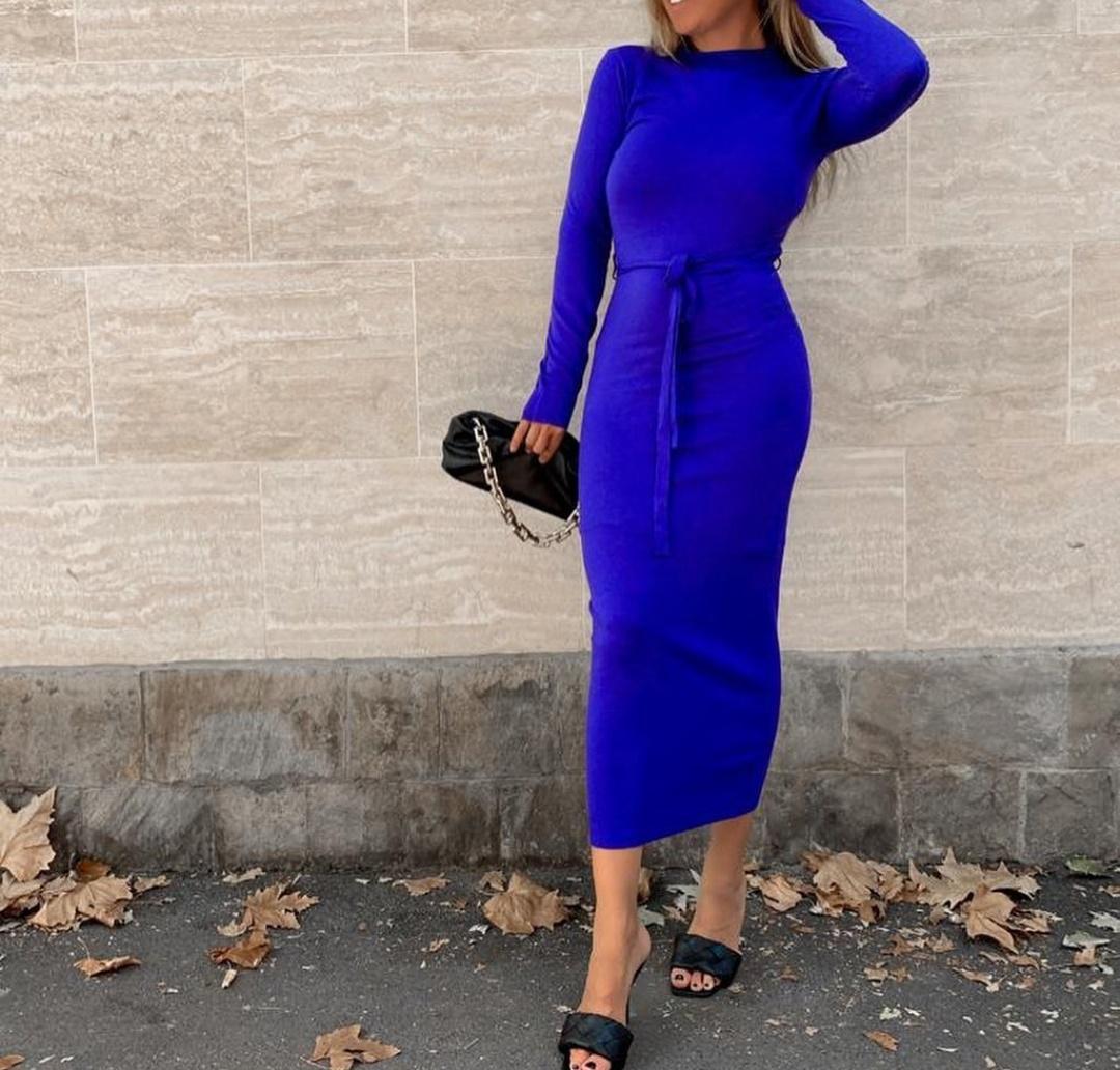 Vestido Anna en Azul y en Negro
