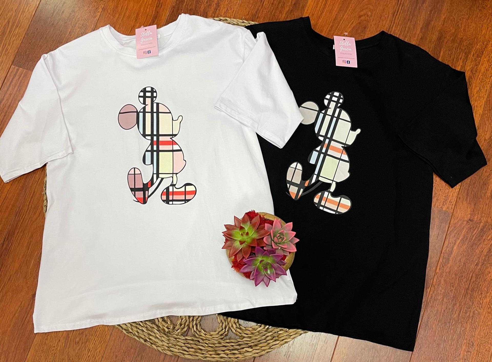 Camiseta Mouse en Blanco y Negro