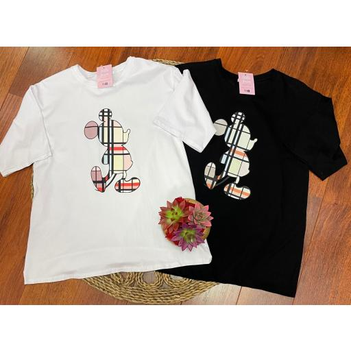 Camiseta Mouse en Blanco y Negro [0]
