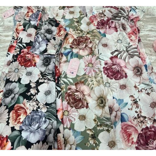Kimono Flores en Beige [1]