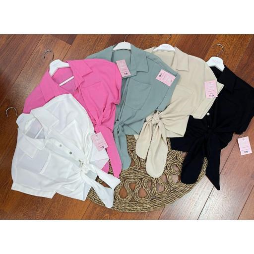 Camisa Sweet en Rosa, Verde, Beige y Negro [1]