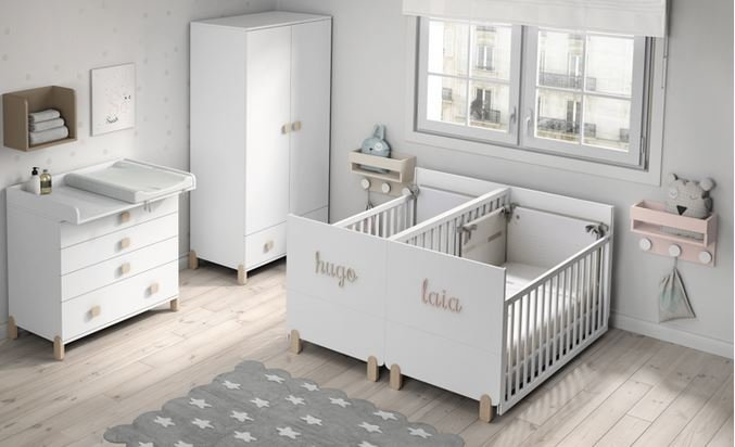 Cunas para gemelos bebés