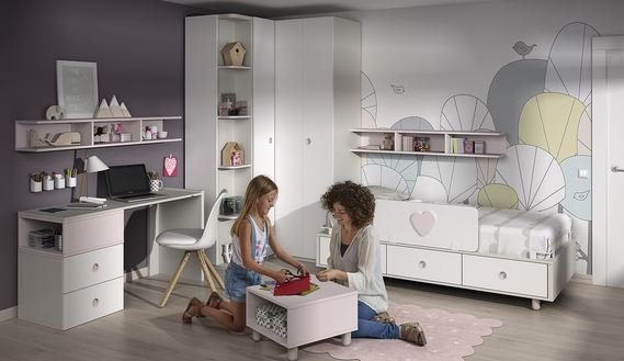 Cama adaptable para niño