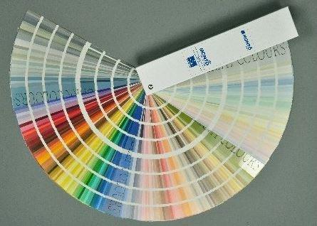 carta de colores de pintura
