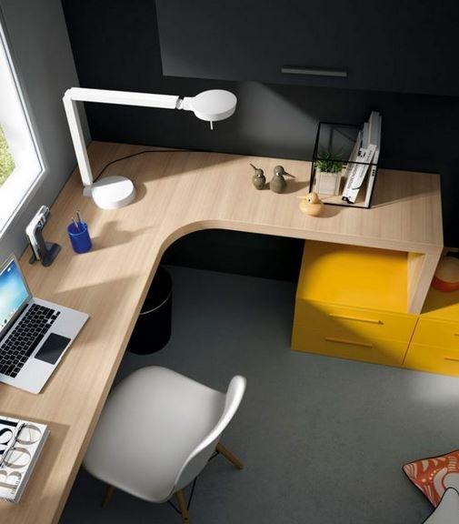 Mesa de estudio para habitación de madera