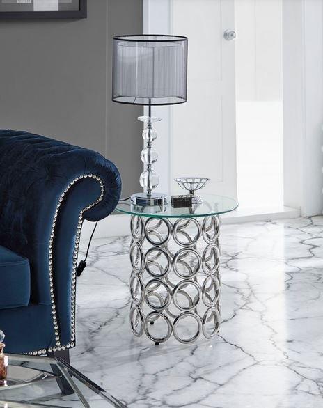 Lámpara de salón metal y cristal