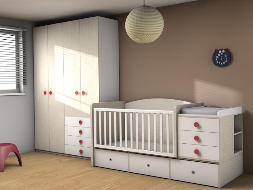 Habitación de niño de madera