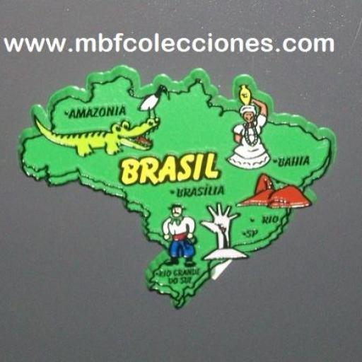 IMÁN BRASIL GOMA RF. 03013