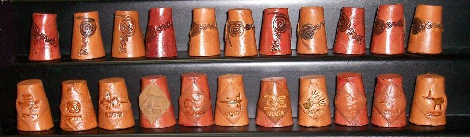 COLECCIÓN 12 DEDALES CUERO ARTESANALES RF. 0306