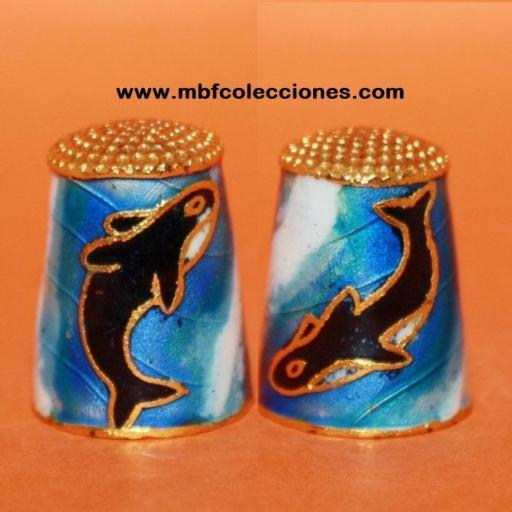 DEDAL METÁLICO CON ORCAS RF. 02298